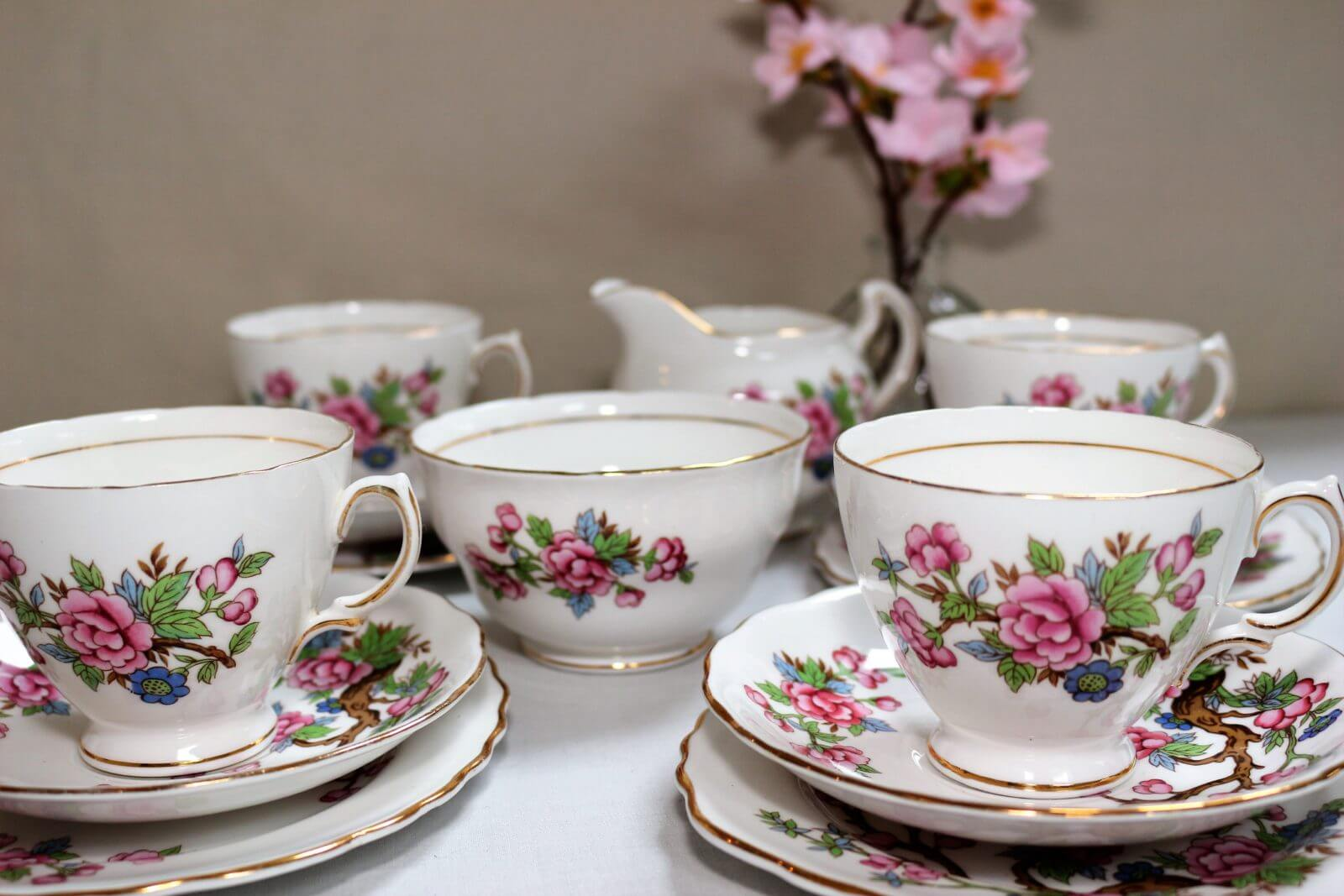 Cherry Blossom Colclough Tea Set