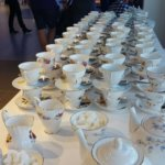 Photo show Vintage Tea Cups lined up ready for an event